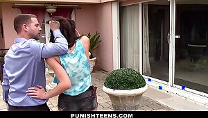 PunishTeens - Plotting Teen Fucked plus Misused Up ahead erase be incumbent on one's tether Neighbor
