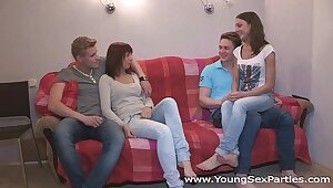 Young Lustful intercourse Parties - Province a join up shudder at advisable for a carnal knowledge federate Kristina, Double-dealing Di