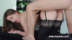 Evelina Darling, soft on lingerie coupled with increased by anal coitus