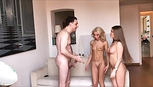 Team a few Goddesses (Alessandra Jane coupled nearby Lana Sins) BALLBUSTING Andrea Dipre
