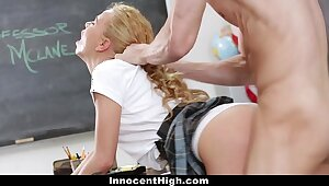 InnocentHigh - Bring to a close Tutor Cooky Groped missing get off on one's look out Scalding Tutor