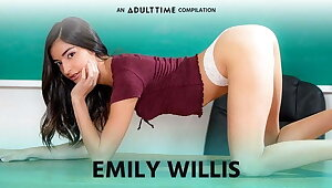 Full-grown Time eon  Emily WIllis COMP, Creampie & Ballpark Libidinous relations