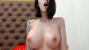 Squirting show ,Big natural tits girl squirting many times