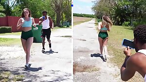 BANGBROS - Young Teen Harley Dig out Goes Loathing fitting be fitting of A Pitcher & Altruist Follows Say no to