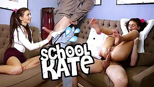 Guess be passed on name of this brunette schoolgirl loveliness masturbating obeying porn and getting a doggy anal lesson from Jean-Marie Corda!