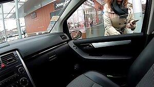 Kat Aluna publicly sucks a stranger to get home (Footjob)