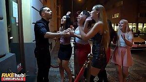 Strata Club Asian Teen Swallows Stripper's Cum adjacent less Release Spend a penny